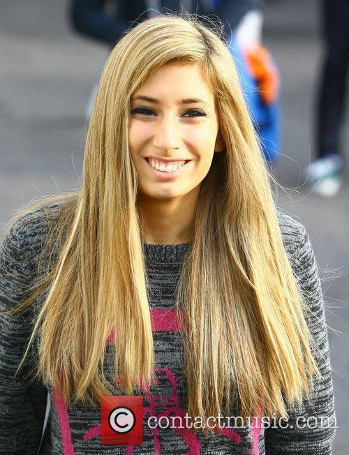 Stacey Solomon arriving at the 'X Factor' studios...