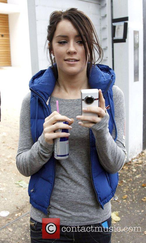 X Factor Finalist Lucie Jones takes a picture...