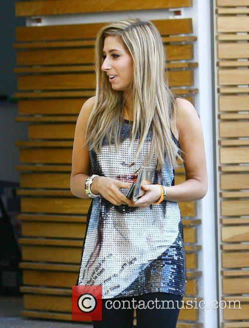 X Factor finalists Stacey Solomon leaving the X...
