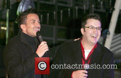 Peter Andre and Wes Christmas Lights switch on...