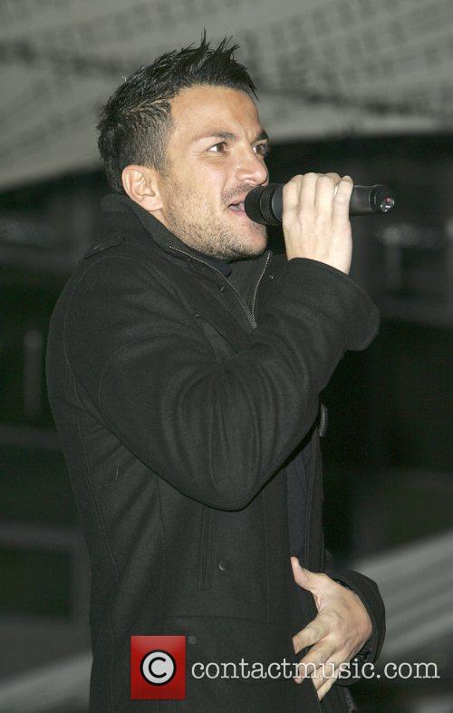 Peter Andre  Christmas Lights switch on ceremony...