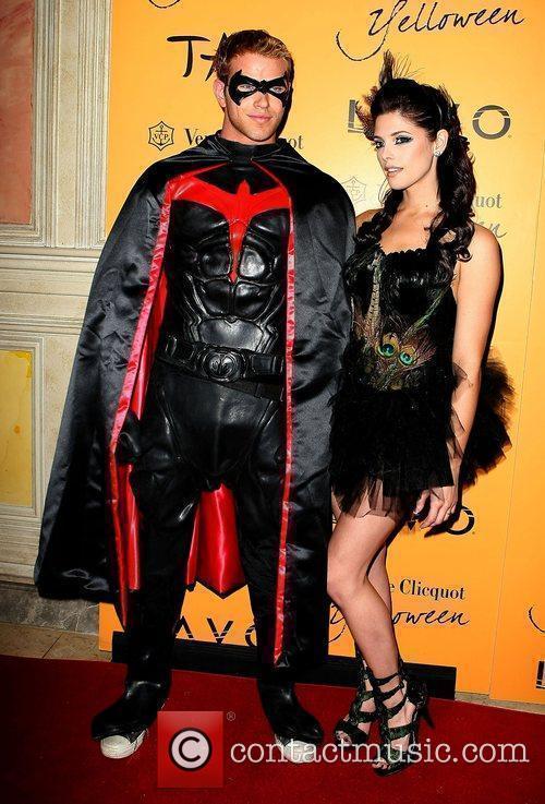 Kellan Lutz and Ashley Greene Veuve Clicquot's Yelloween...