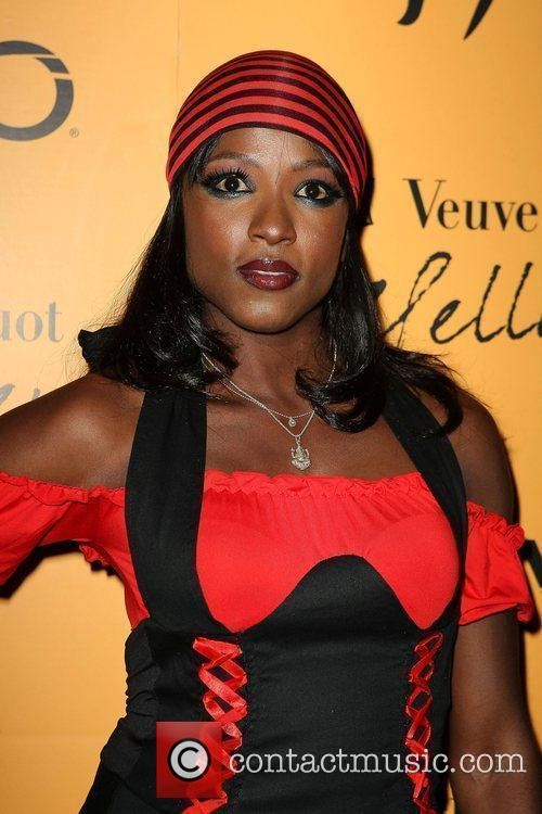 Rutina Wesley Veuve Clicquot's Yelloween hosted by Ashley...
