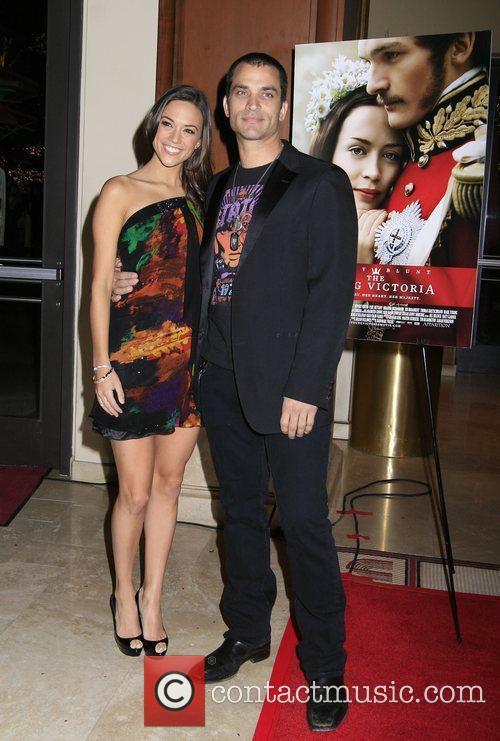 Jana Kramer and Johnathon Schaech Los Angeles Premiere...