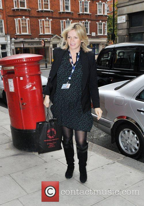 A heavily pregnant Zoe Ball arrives at the...