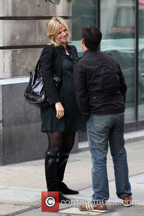 Zoe Ball leaving Radio 2 studios London, England