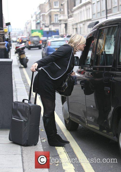 Leaving the BBC Radio 2 studios on her...