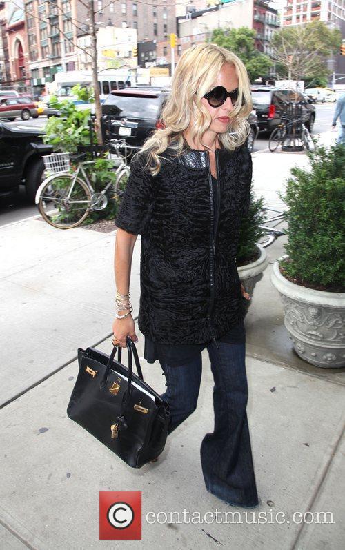 Rachel Zoe arriving back to her hotel
