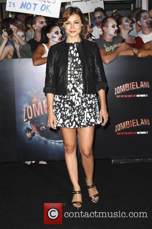 Melody Thornton Los Angeles Premiere of 'Zombieland' held...
