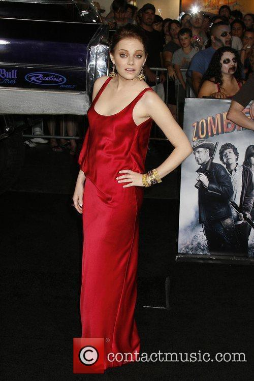 Emma Stone Los Angeles premiere of 'Zombieland' held...