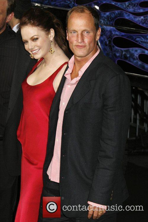 Emma Stone and Woody Harrelson Los Angeles premiere...