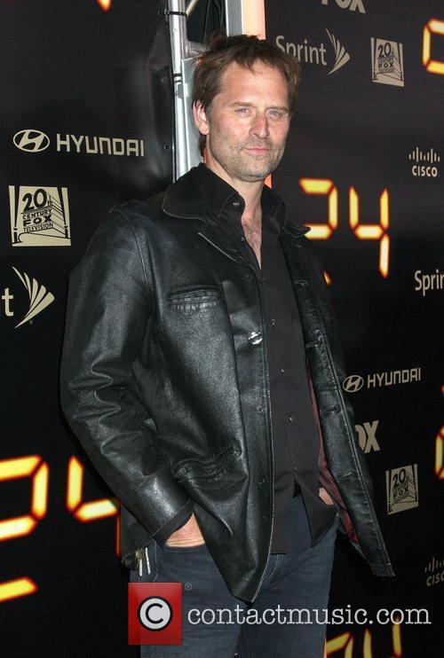 Attends the TV show '24' series finale party...