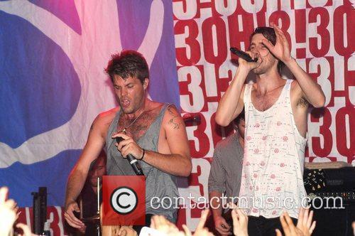 Sean Foreman and Nathaniel Motte (right) of 3OH!3...