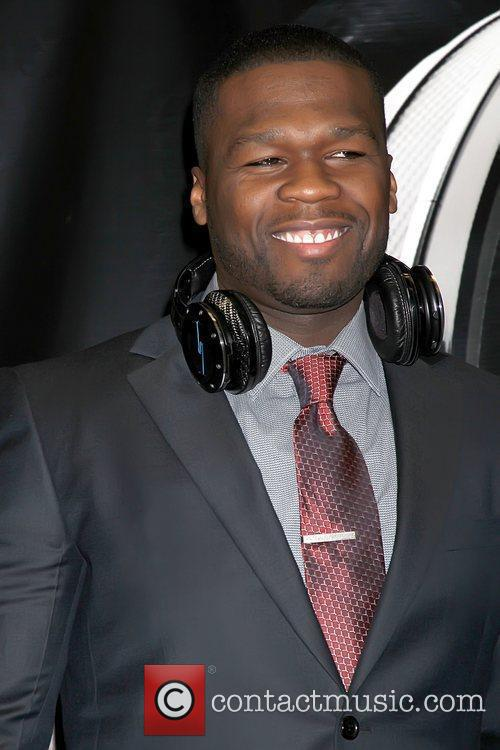 50 Cent, real name Curtis Jackson celebrates the...