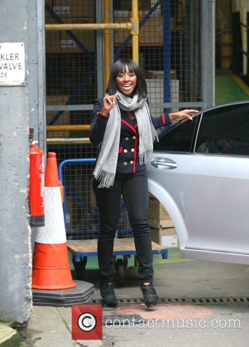 Alexandra Burke leaving the London Studios after appearing...