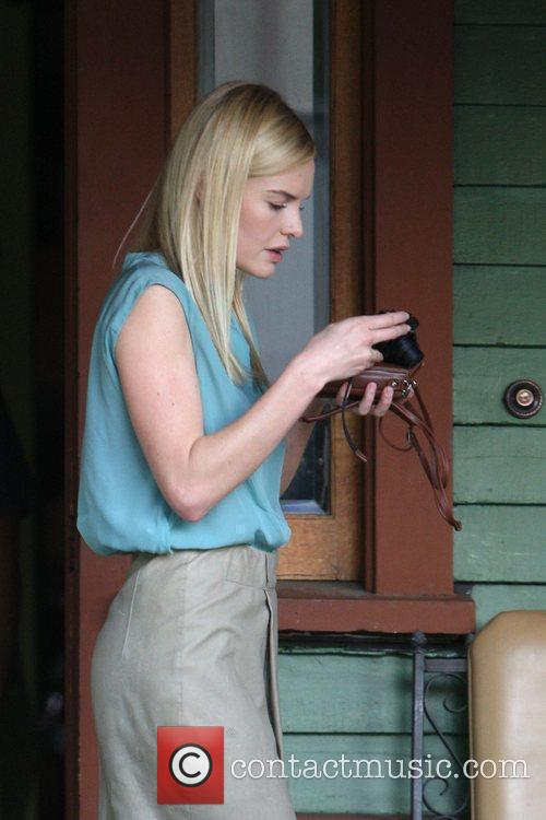 Kate Bosworth filming on the set of her...