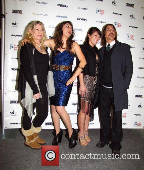 Niki Shadrow (C), Anthony Kiedis (R) and guests...