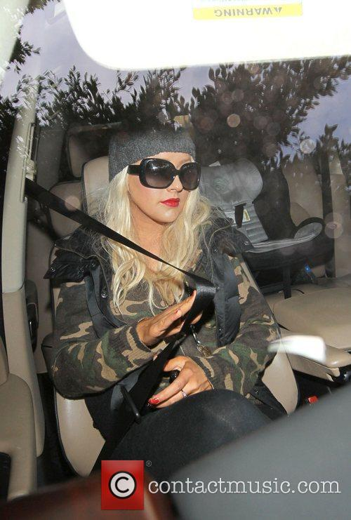 Christina Aguilera and her new boyfriend Leave the...