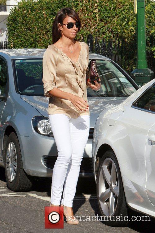 Christine Bleakley Leaving her home London, England