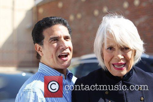 Corky Ballas and Carol Channing   outside...