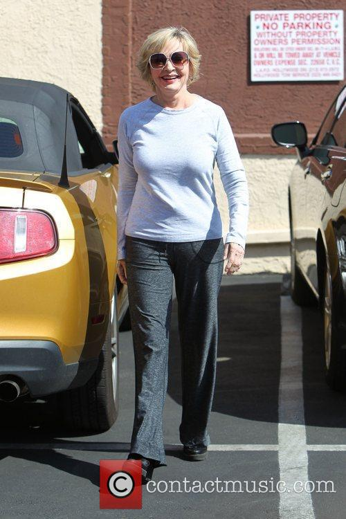 Florence Henderson   outside the dance rehearsal...