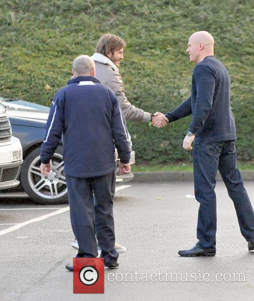Arriving at the Tottenham Hotspur training ground