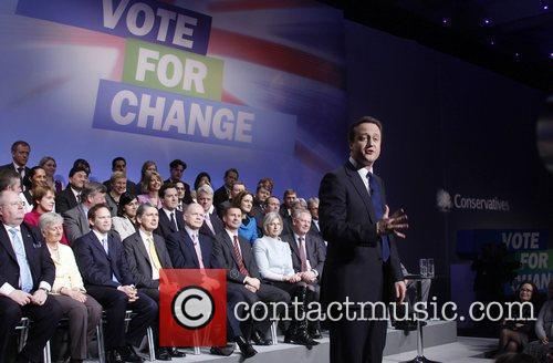 David Cameron, leader of the Conservative Party and...