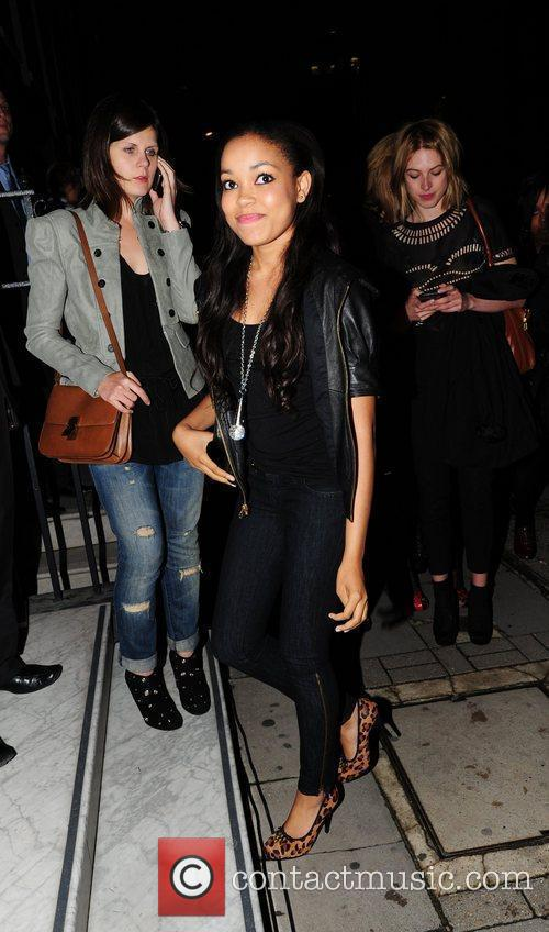 Dionne Bromfield arrives at the Juicy Couture store...