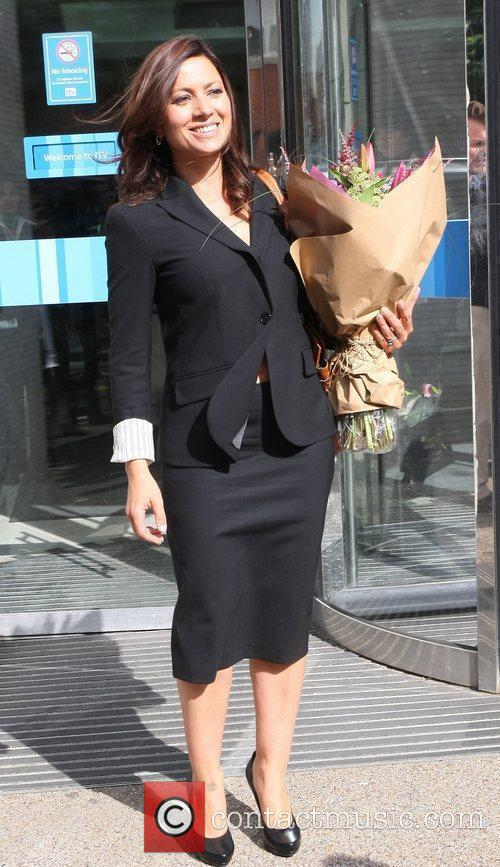 Clare Nasir  Celebrities leaving the London studios...