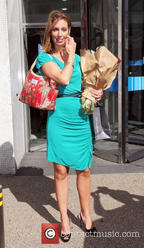 Emma Crosby  Celebrities leaving the London studios...