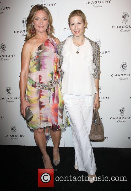 Elisabeth Rohm and Kelly Rutherford Fashion Designer Gilbert...