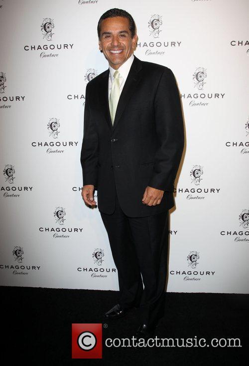Los Angeles Mayor Antonio Villaraigosa Fashion Designer Gilbert...