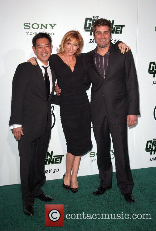 Grant Imahara, Kari Byron and Tory Belleci Premiere...