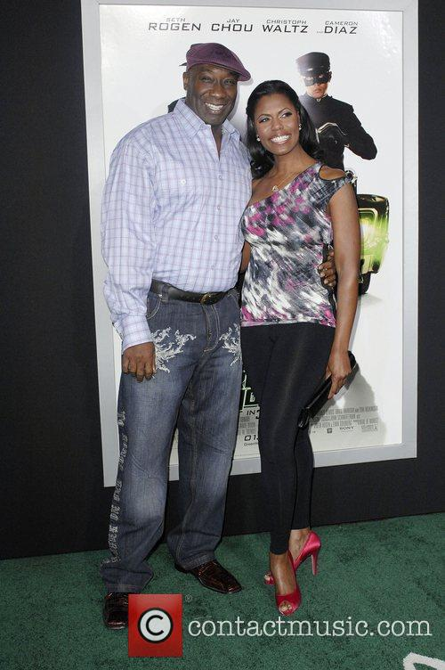 Michael Clarke Duncan and Guest Premiere Of Columbia...