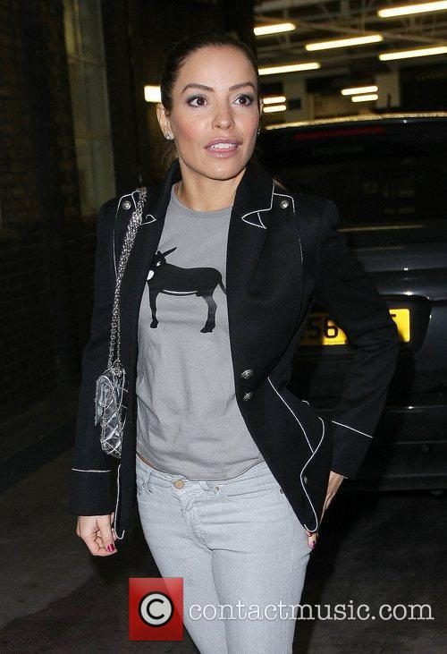 Elen Rives  leaving the ITV studios after...