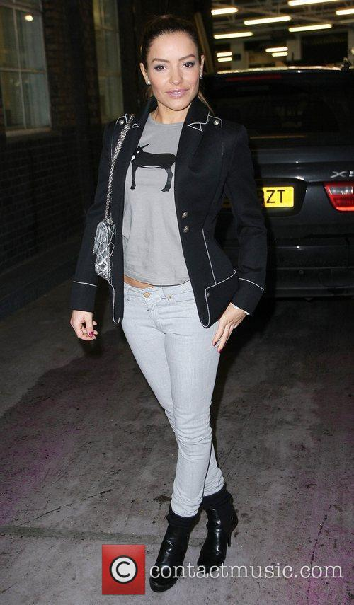 Elen Rives  leaving the ITV studios after...