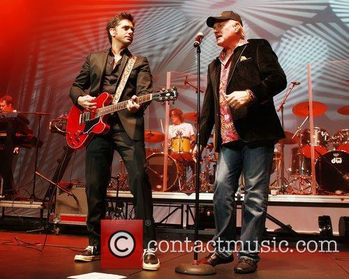 John Stamos Peforms with Mike Love of the...