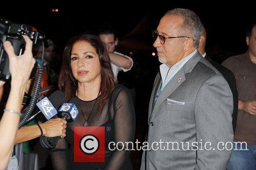 Gloria Estefan and Emilio Estefan arrive on the...