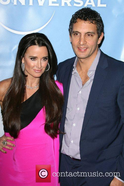 Kyle Richards and guest NBC Universal 2011 Winter...