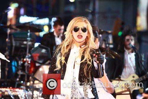 Ke$ha aka Kesha Performing at the Times Square...