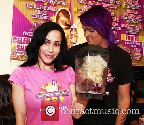 Octomom aka Nadya Suleman visits Millions of Milkshakes...
