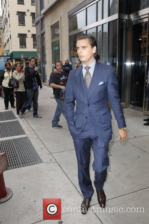 Scott Disick leaving his hotel in Manhattan New...