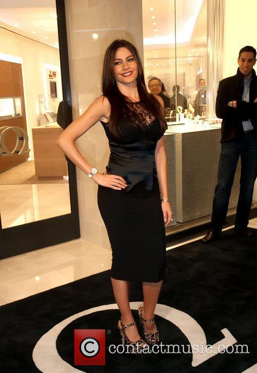 Sofia Vergara opens Omega's newest boutique at the...
