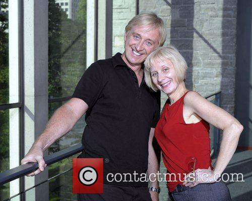 Jim Giles and Julie Giles poses for the...