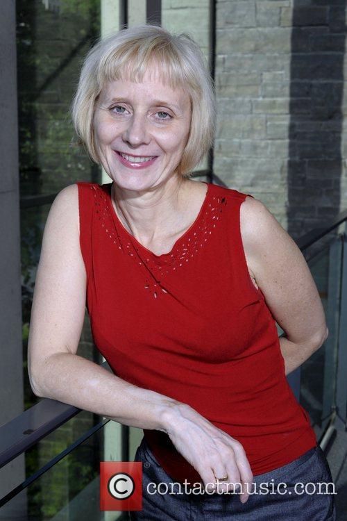 Julie Giles   poses for the filmmaker...