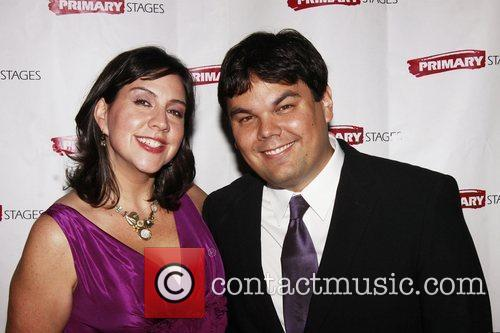 Kristen Anderson Lopez and Bobby Lopez Opening night...