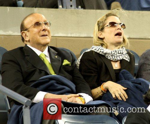 Clive Davis and guest US Open - Day...