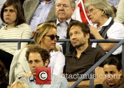 David Duchovny and Tea Leoni US Open -...