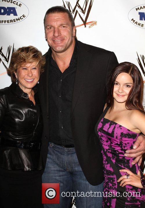 Yeardley Smith, WWE Superstar Triple H and Ariel...