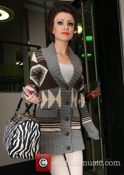 X Factor contestant Cher Lloyd leaving a studio...